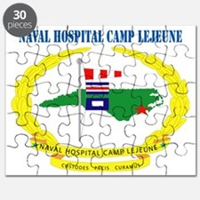 Naval Hospital Camp Lejeune with Text Puzzle