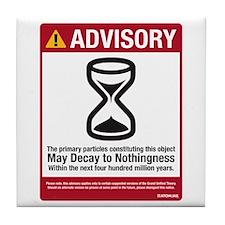 Advisory Tile Coaster