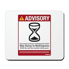 Advisory Mousepad