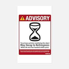 Advisory Rectangle Decal