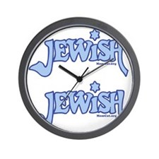 Jewish14x14ironon Wall Clock
