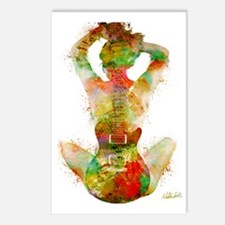 Guitar Siren by Nikki Smi Postcards (Package of 8)