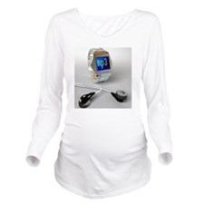 Wrist watch MP3 play Long Sleeve Maternity T-Shirt