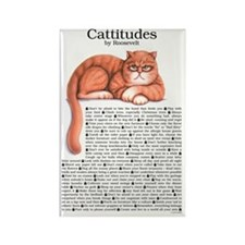 Cattitudes 23x35 Rectangle Magnet