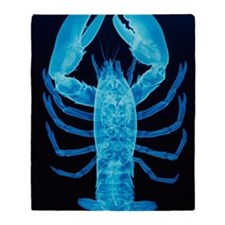 X-ray of lobster Throw Blanket