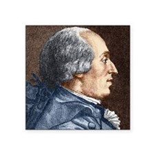 """Jacques Charles, French bal Square Sticker 3"""" x 3"""""""