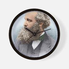 James Clerk Maxwell, Scottish physicist Wall Clock