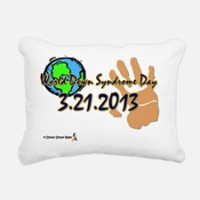 World Down Syndrome Day  Rectangular Canvas Pillow
