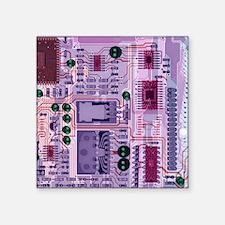 "X-ray of sound card Square Sticker 3"" x 3"""