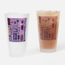 X-ray of sound card Drinking Glass