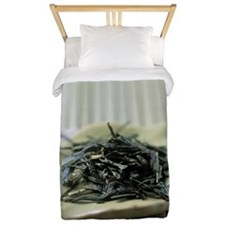 Japanese sencha green tea Twin Duvet