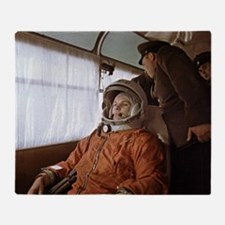 Yuri Gagarin before launch, 1961 Throw Blanket
