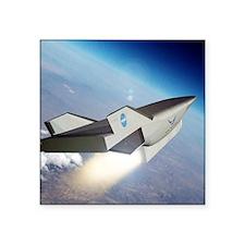 "X-43C aircraft Square Sticker 3"" x 3"""