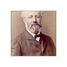 "Jules Verne, French novelis Square Sticker 3"" x 3"""