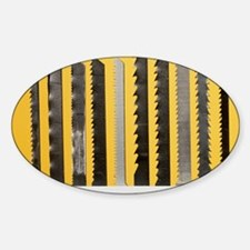 Jigsaw blades Sticker (Oval)