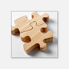 """Jigsaw pieces Square Sticker 3"""" x 3"""""""