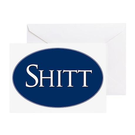 Shitt Sticker Greeting Card