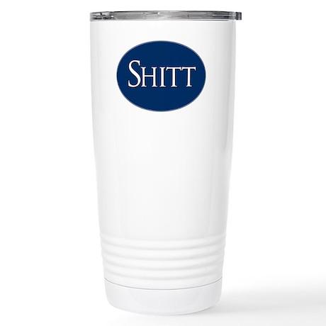 Shitt Sticker Stainless Steel Travel Mug