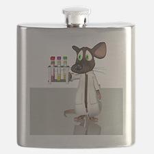 Laboratory mouse, conceptual artwork Flask