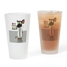 Laboratory mouse, conceptual artwor Drinking Glass