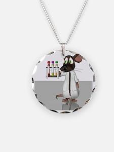 Laboratory mouse, conceptual Necklace Circle Charm