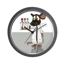 Laboratory mouse, conceptual artwork Wall Clock