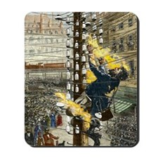 John Feeks being electrocuted, 1889 Mousepad