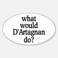 D'Artagnan Oval Decal
