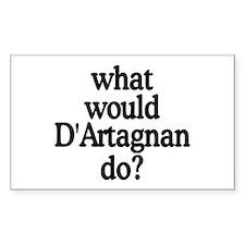 D'Artagnan Rectangle Decal