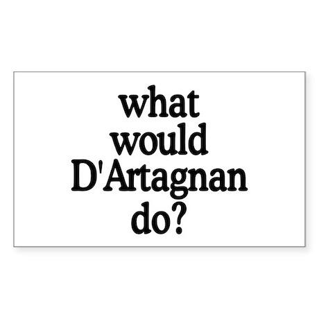 D'Artagnan Rectangle Sticker