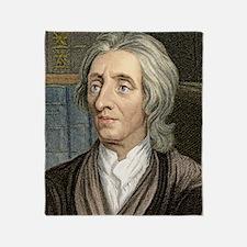 John Locke, English philosopher Throw Blanket