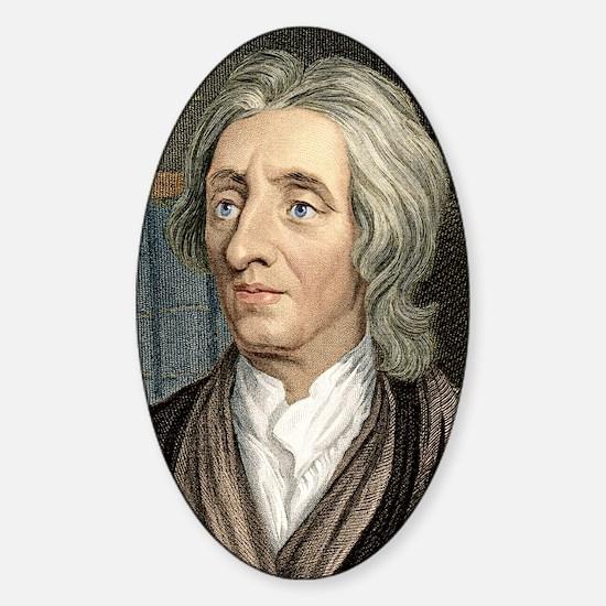 John Locke, English philosopher Sticker (Oval)