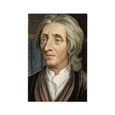 John Locke, English philosopher Rectangle Magnet