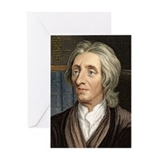 John Locke, English philosopher Greeting Card