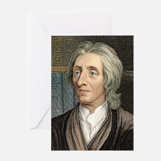 John Locke, English philosopher Greeting Card