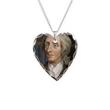 John Locke, English philosoph Necklace Heart Charm