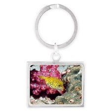 Yellow boxfish Landscape Keychain