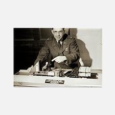 John Stapp, US aviation researche Rectangle Magnet