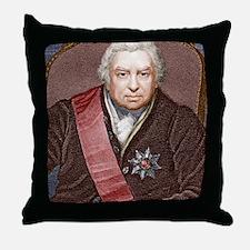 Joseph Banks, British naturalist Throw Pillow