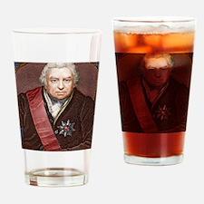Joseph Banks, British naturalist Drinking Glass