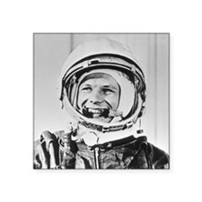 "Yuri Gagarin Square Sticker 3"" x 3"""