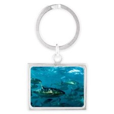 Yellowfin tuna Landscape Keychain