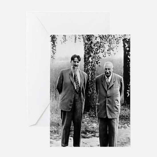 Kurchatov and Ioffe, Soviet physicis Greeting Card