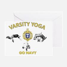 USNA Varsity Yoga Greeting Card