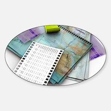 Laboratory notes, artwork Sticker (Oval)