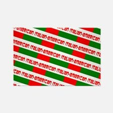 Tricolore Red Green White Chic It Rectangle Magnet