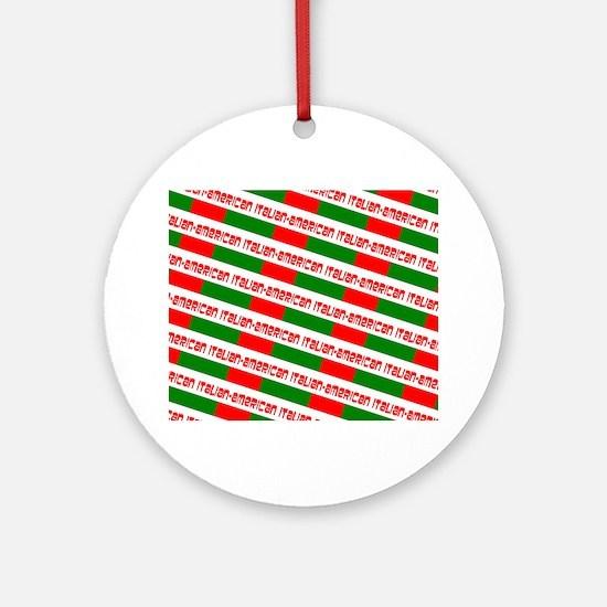 Tricolore Red Green White Chic Ital Round Ornament