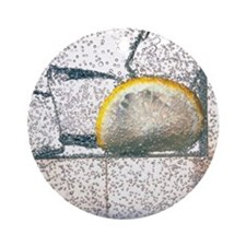 Lemonade: carbonated water drink wi Round Ornament