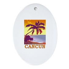 Cancun, Mexico Oval Ornament