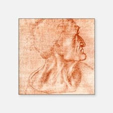 "Leonardo da Vinci artwork Square Sticker 3"" x 3"""